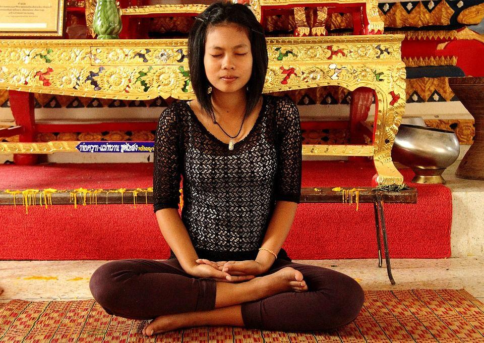 meditacija, moteris