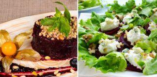Burokėlių salotos su baklažanų padažu. Neįprastas skonių derinys