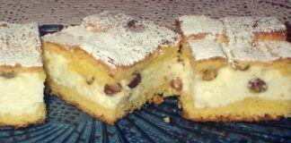 Varškės pyragas su razinomis: lengvas ir greitai paruošiamas receptas