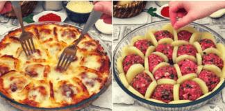 Gardus mėsos ir bulvių apkepas su bešamelio padažu!