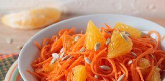 Morkų ir apelsinų salotos. Labai skanios ir sveikos, paragaukite