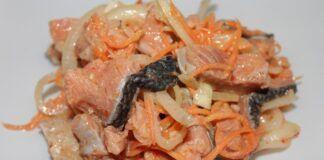 Korėjietiškos žuvies salotos: šventinė stalo puošmena!
