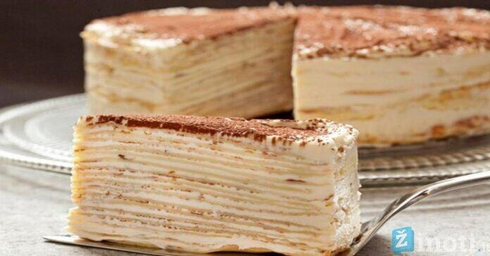 Skaniausias blynų tortas. Paragaukite bent kartą gyvenime!