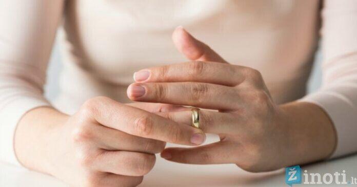 negalima nusiimti vestuvinio žiedo