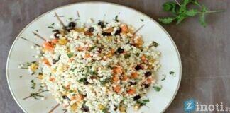 Kuskuso salotos su tunu ir raugintais kopūstais. Išbandykite!