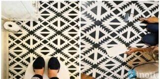 Atsibodo vienspalvės grindys tualete? Pasitelkite vaizduotę!