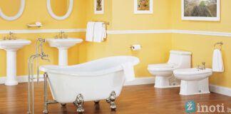 Garstyčios su medumi- stilingas, originalus ir šiltas vonios interjeras