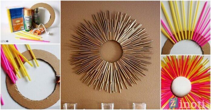 Veidrodis ir šiaudeliai padės sukurti stilingą namų dekoraciją