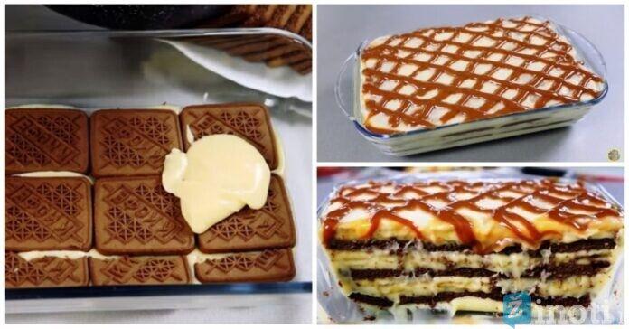 Labai skanus pyragas, kurio nereikia kepti. Išbandykite!