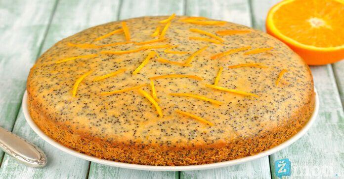 Egzotiškas apelsinų pyragas su aguonomis. Išbandykite!