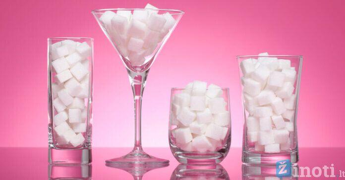 Cukrus, kiek per dieną jo galima suvartoti, kad tai nekenktų?