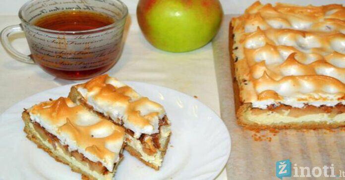 Obuolių ir varškės pyragas. Desertas, kuris praskaidrins dieną!