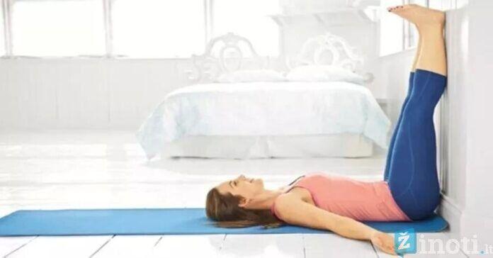 Jei kasdien palaikysite iškeltas kojas, nesiskųsite prasta sveikata