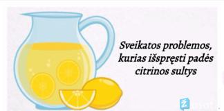 Sveikatos problemos, kurias išspręsti padės citrinų sultys
