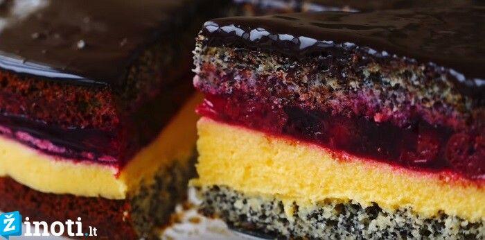 Tortas su vyšniomis ir šokoladu