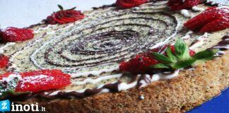 Minkštas aguonų pyragas. Desertas, kai norisi kažko saldaus