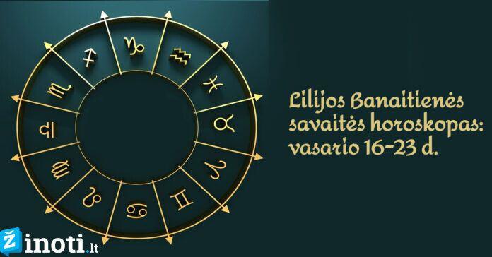 Lilijos Banaitienės savaitės horoskopas: ko tikėtis vasario 16-23 dienomis?