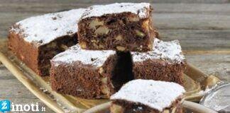 Šokoladinis pyragas su obuoliais. Greitas ir paprastas receptas!