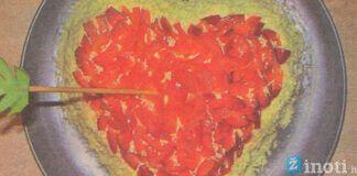 """Salotos """"Valentinas"""", romantikos kupinas patieklas jūsų stalui"""