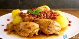 Vištiena su svogūnais ir granatais - skanus armėnų virtuvės patiekalas