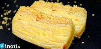 Kreminis obuolių ir kriaušių pyragas. Pasakiškas skonis, kuris pavergia
