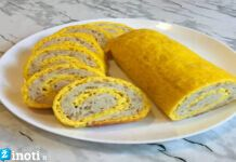 Mėsos ir sūrio vyniotinis keptas orkaitėje. Išbandykite!