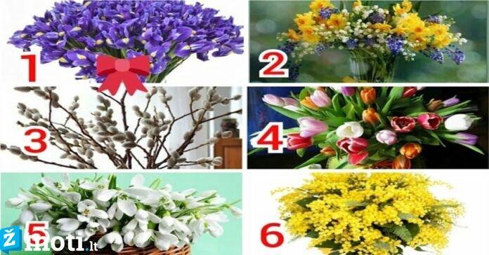 Pasirinkite puokštę ir sužinokite, koks jums bus pavasaris