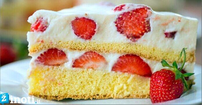 Braškinis tortas. Pajuskite vasaros skonį visais metų laikais!
