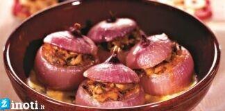 Įdaryti svogūnai. Neįprastas, bet labai skanus patiekalas!