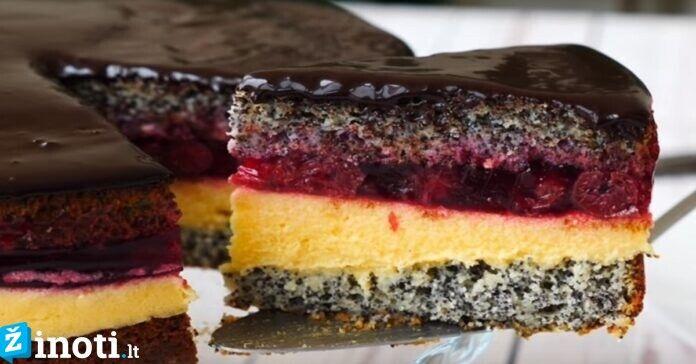 Tortas su vyšniomis ir šokoladu. Karališkas skonis jūsų namuose!