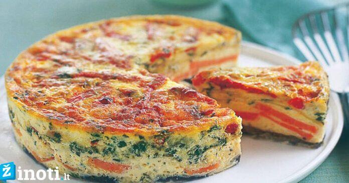 """Itališkas omletas """"Fritata"""". Mėgaukitės skaniais pusryčiais"""
