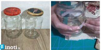 Kaip litro talpos stiklainį paversti stilingu birių produktų indu?