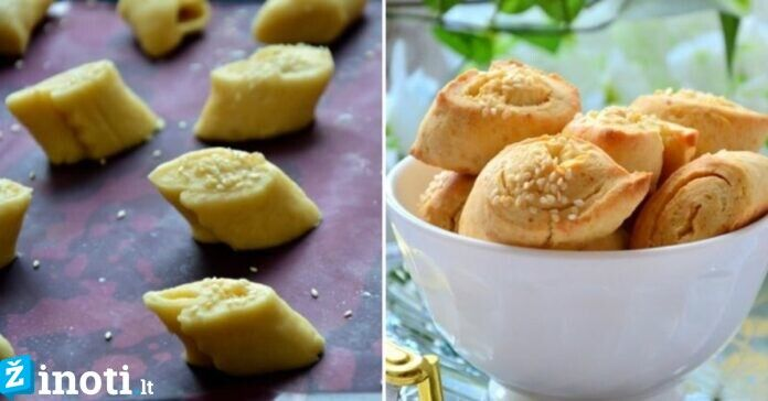 Tobulo skonio sausainiai su lydytu sūreliu. Gailėsitės neišbandę anksčiau!