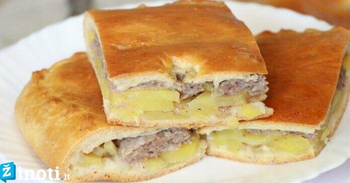 Sotus bulvių ir grybų pyragas, kurį norėsite kepti dar ne vieną kartą