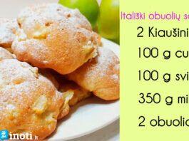Minkšti itališki obuolių sausainiai. Norėsite jų dar ir dar...