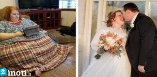 34 metų amerikietė numetė 200 kg ir ištekėjo už savo gyvenimo meilės