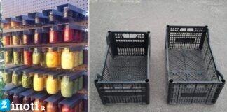 Kaip sukurti daiktų sandėliavimo lentyną iš nereikalingų dėžių?