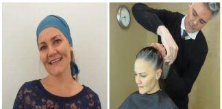 Moteris pavargo kovoti su žilais plaukais ir kreipėsi į stilistą. Rezultatas sužavės!