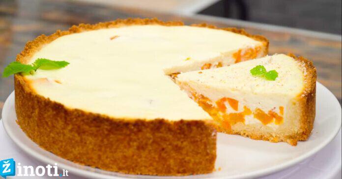 Tobulas varškės pyragas, skonis geresnis nei restorane!