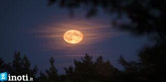Balandžio 8 d. patekės ryškiausia šių metų Mėnulio pilnatis