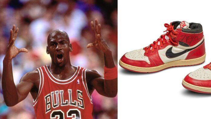 JAV krepšinio legendos M. Jordano sportinių batelių pora aukcione parduota už 560 000 dolerių