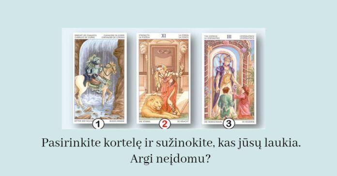 Pasirinkite kortelę ir sužinokite, kas jūsų laukia. Argi neįdomu?