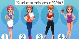 Loginis testas: kuri moteris paveikslėlyje yra nėščia?