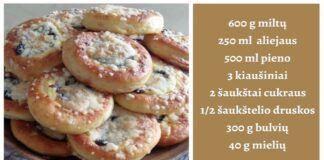 Skaniausi pyragėliai su mėlynėmis. Geriau nei močiutės receptas!