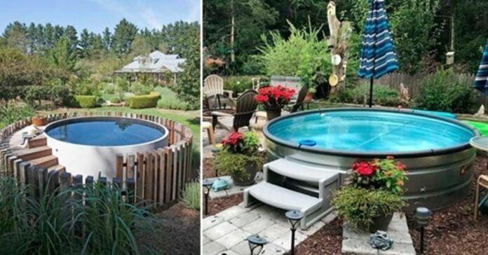 Pigus ir lengvai pastatomas baseinas jūsų kieme. Atsigaivinkite vandenyje!