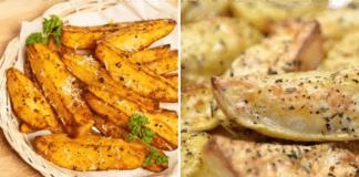 Graikiškai keptos bulvės, tobulas garnyras prie bet kokio patiekalo!
