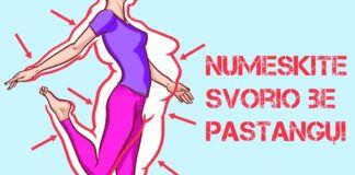 Nustatyti du pagrindiniai principai, kurie gali padėti numesti svorio!