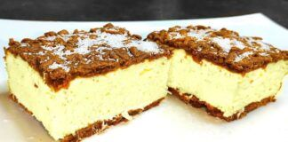 Tarkuotos tešlos varškės pyragas su kokosais. Pamilsite iš karto!