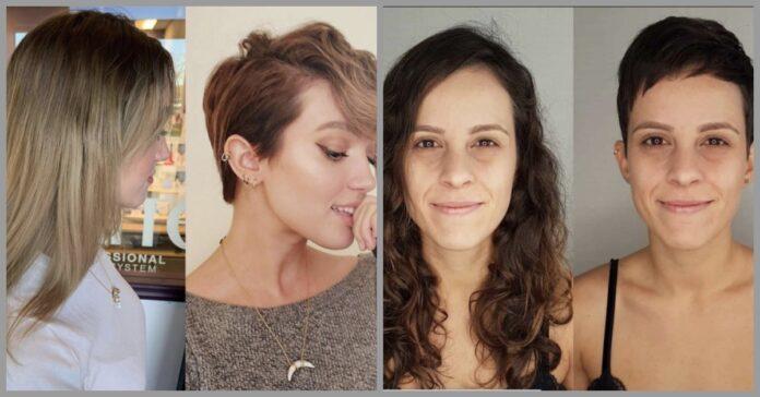Moterys nusprendė pakeisti šukuoseną. Tik pažiūrėkite, kokia puiki transformacija!