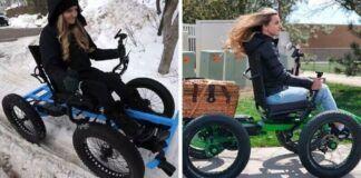 Vyras neįgaliai žmonai suprojektavo visureigį invalido vežimėlį. Dabar ji gali nuvykti visur!